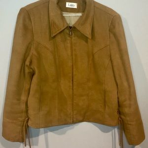 Laura faux suede jacket